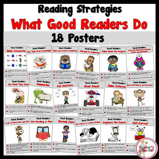 Posters that display what good readers do
