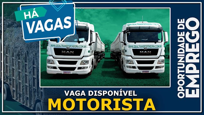 Transportadora Ideal abre vagas para Motorista Truck