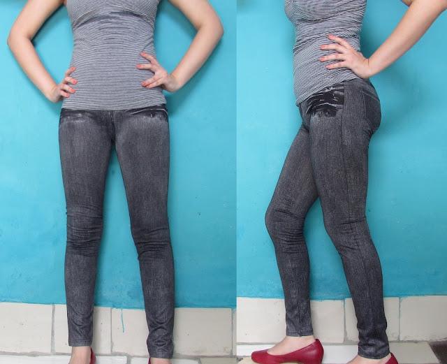 Leggings  Jeans preta