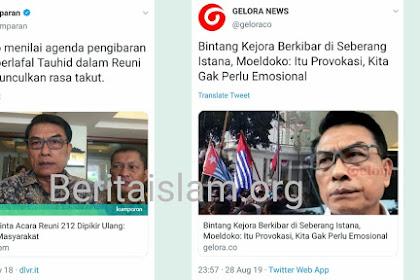 Beda Sikap Moeldoko Terkait Bendera Tauhid dan Bendera Bintang Kejora
