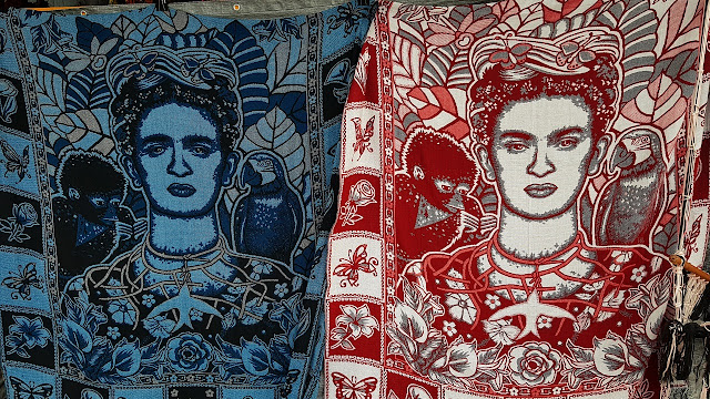Colourful carpets pay tribute to Mexican painter Frida Kahlo...