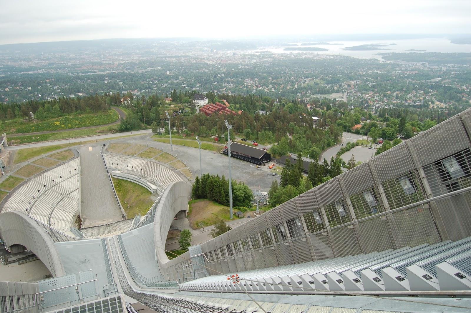 na belce skoczni Holmenkollen Oslo Norwegia