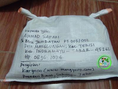 Benih pesanan AHMAD SAFARI Indramayu, Jabar   (Setelah Packing)