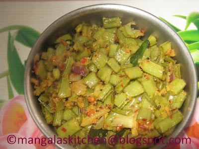Kothavarangai Poriyal  with Peanut galic Masala | Diabetic Recipe