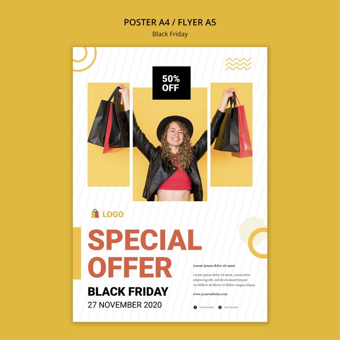 Black Friday Offer Poster Template