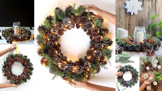 Τα πιο εύκολα, οικονομικά και εντυπωσιακά DΙΥ Χριστουγεννιάτικα Στεφάνια