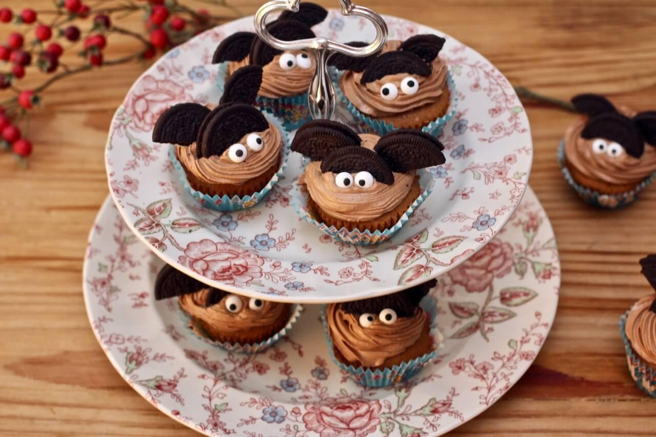 Fledermaus-Cupcakes Rezept