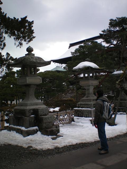 Jardines del templo Zenko-ji en Nagano