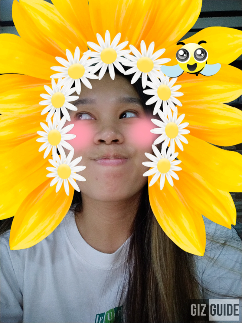 Sunflower-daisy with bee sticker!