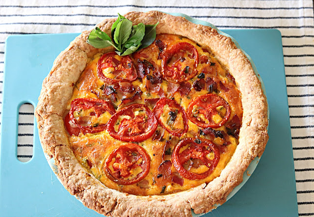 Simple Tomato Pie With Kumato and Better Boy Tomatoes
