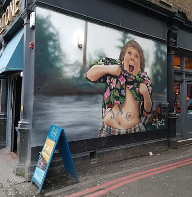 Chunk from The Goonies graffiti in London