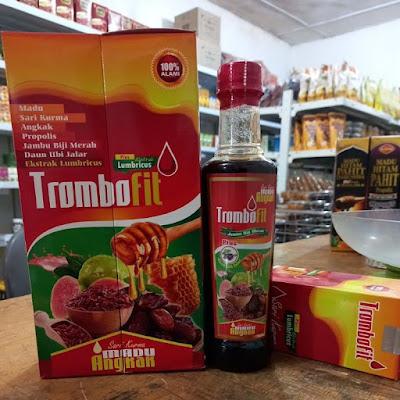 TROMBOFIT Sari Kurma Madu Angkak Propolis Jambu Biji Daun Ubi Jalar Plus Ekstrak Lumbricus