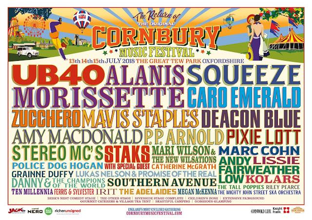 cornbury festival july 2018 lineup