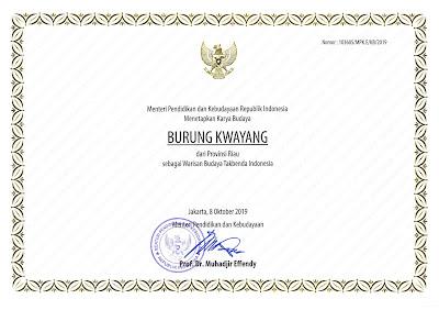 Warisan Budaya Tak Benda Riau 2019 Buwong Kwayang