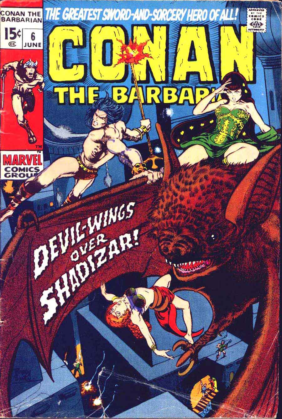 Conan the Barbarian v1 #6 marvel comic book cover art by Barry Windsor Smith