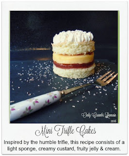 These mini trifle cakes are made with distinctive layers of light, fluffy sponge, flavoursome jelly, creamy custard and cream.  They make a perfect addition to any afternoon tea or family get-together.