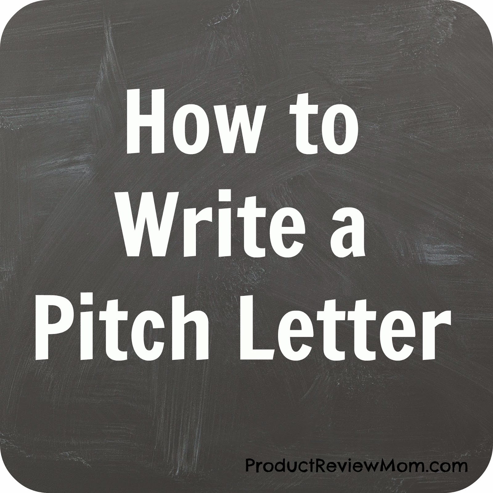 How to write a pitch letter for a product