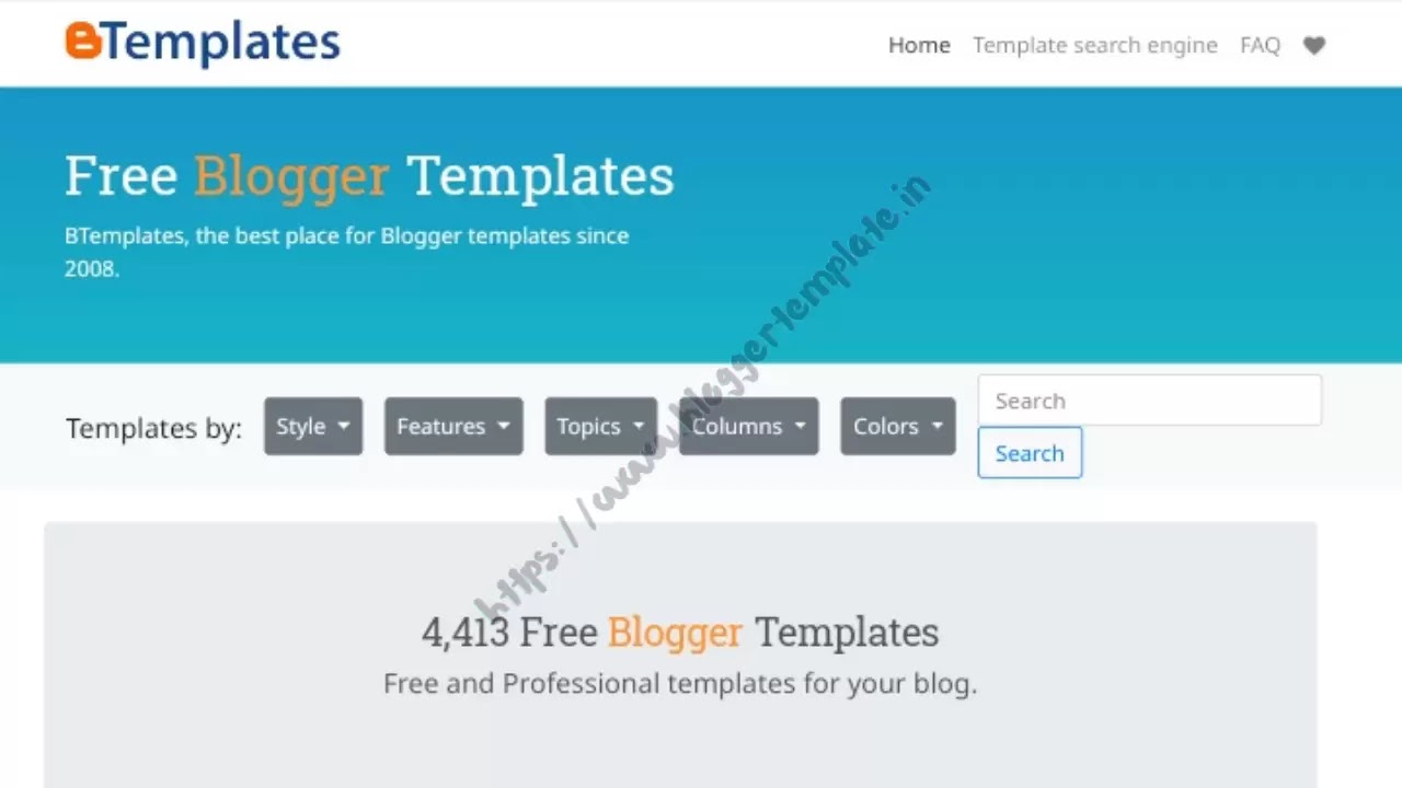 You can get a web template reference on the btemplates.com site
