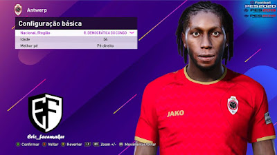 PES 2021 Faces Dieumerci Mbokani by Eric