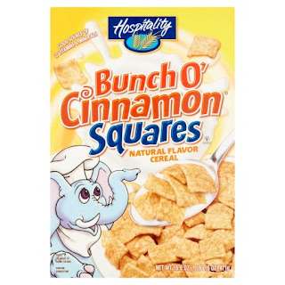 Stock image of Hospitality Bunch o' Cinnamon Squares Cereal, from Dollar Tree