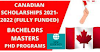 POPULAR CANADIAN SCHOLARSHIPS 2021 FULLY FUNDED