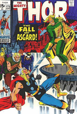Thor #175, The Fall of Asgard, Loki, marie severin cover