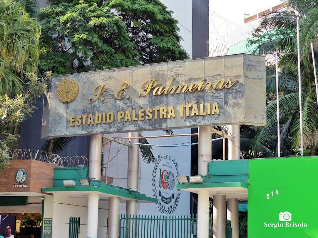Close-up do Antigo frontão do Estádio Palestra Itália - Água Branca - São Paulo
