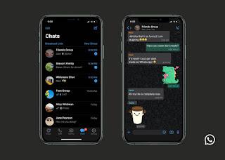 الوضع المظلم في واتس اب على نظام iOS