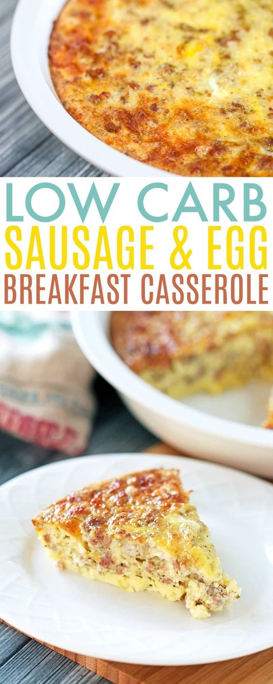 Low Carb Breakfast Casserole #LOWCARB #BREAKFAST #CASSEROLE
