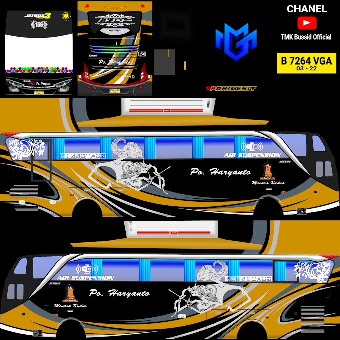 Po Haryanto 156 Parikesit : Skin Livery Bus Simulator Indonesia