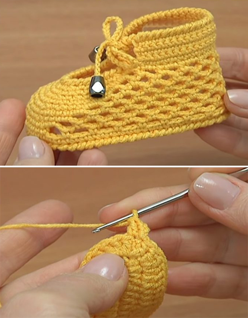 Beautiful Crochet Baby Shoes - Tutorial