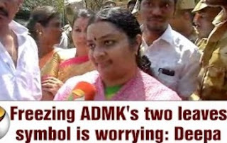 Freezing ADMK's two leaves symbol is worrying: Deepa | Interview
