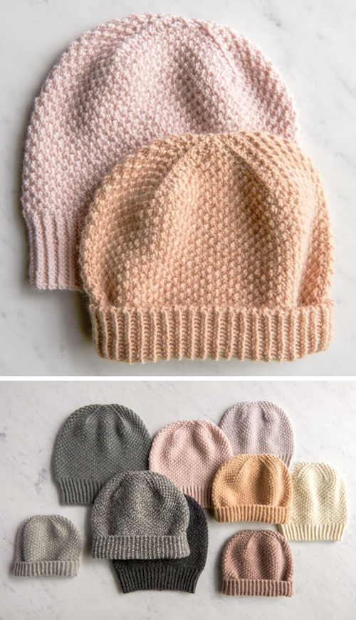 Fluffy Brioche Hat - Free Pattern