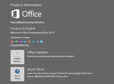 Cara Aktivasi Microsoft Word 2019