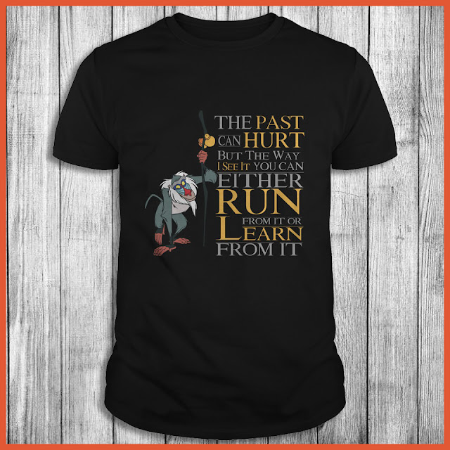Disney Lion King - Rafiki Quote The Past Can Hurt But The Way I See It You Can Either Run From It Or Learn From It Shirt