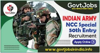 Indian Army NCC Special 50th Entry