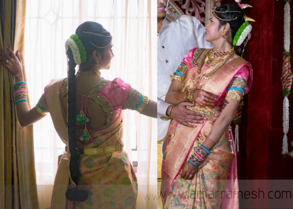 Bride in Ruffled Sleeves Blouse