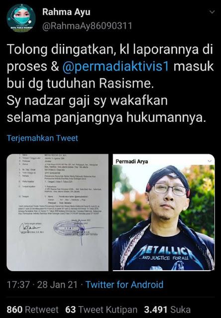 DAHSYAT! Nadzar Netizen Akan WAKAFKAN GAJINYA Jika Sampai Abu Janda Masuk Bui