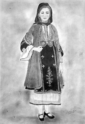 Η ελληνική φορεσιά με το μολύβι των γυναικών του ΜΠΣ Καλαμπακίου Δράμας
