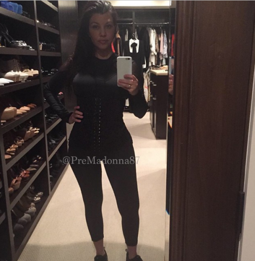 Kourtney Kardashian Shows Off Her Waist TrainerAnd Shoe Closet