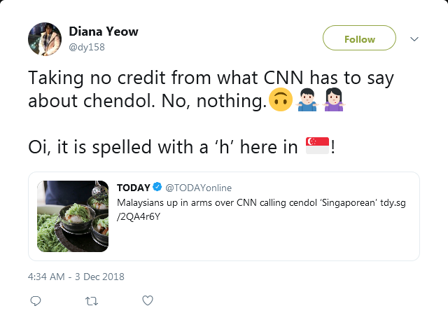 Taking no credit from what CNN has to say about chendol.