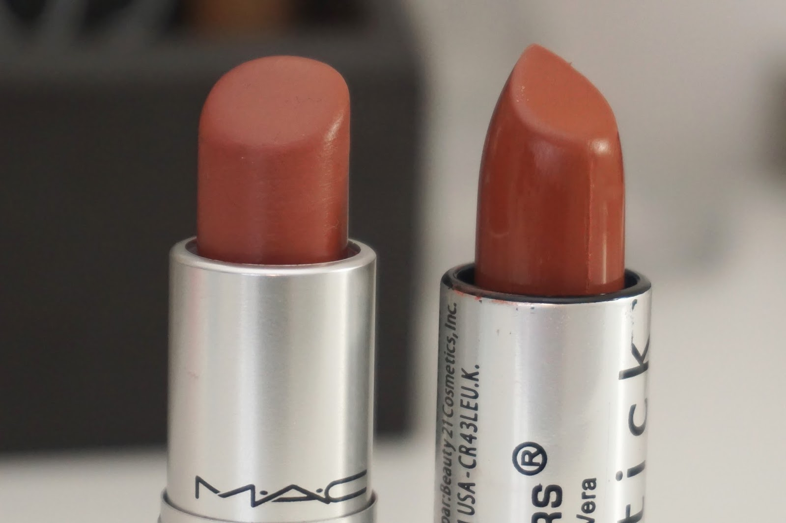 163115 mac taupe lipstick dupe little london blogger