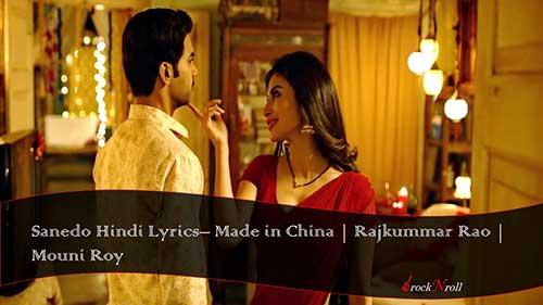 Sanedo-Hindi-Lyrics-Made-In-China