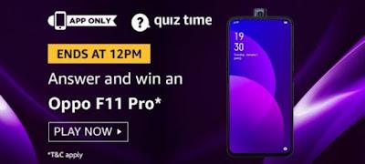 Amazon quiz 9 October 2019