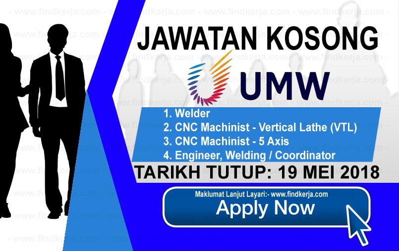 Jawatan Kerja Kosong UMW Aerospace logo www.findkerja.com mei 2018