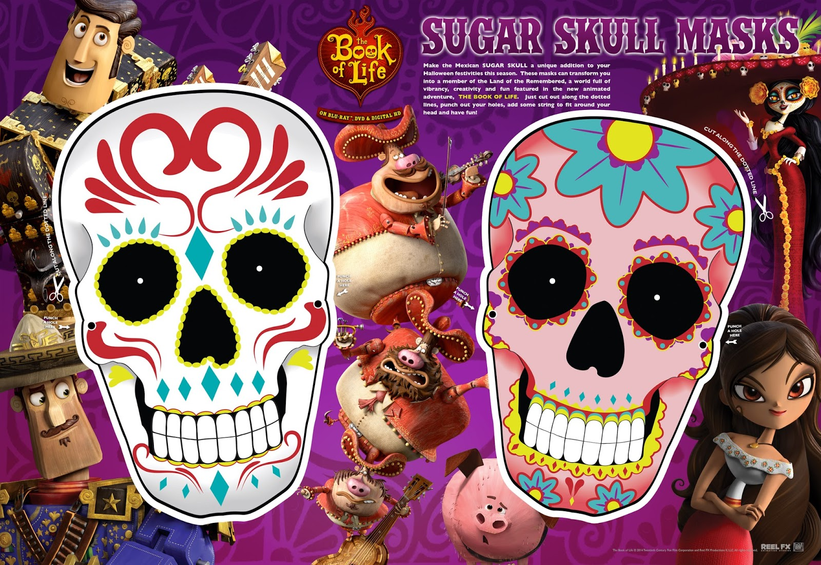 Book Of Life Day Of The Dead Halloween Activities