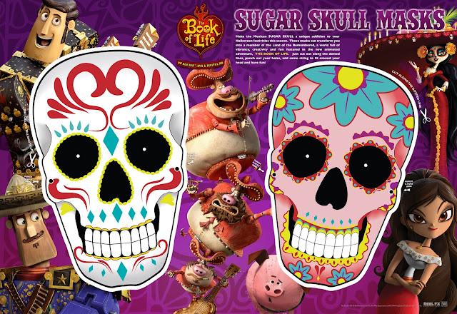 Sugar Skull Masks Day of the Dead
