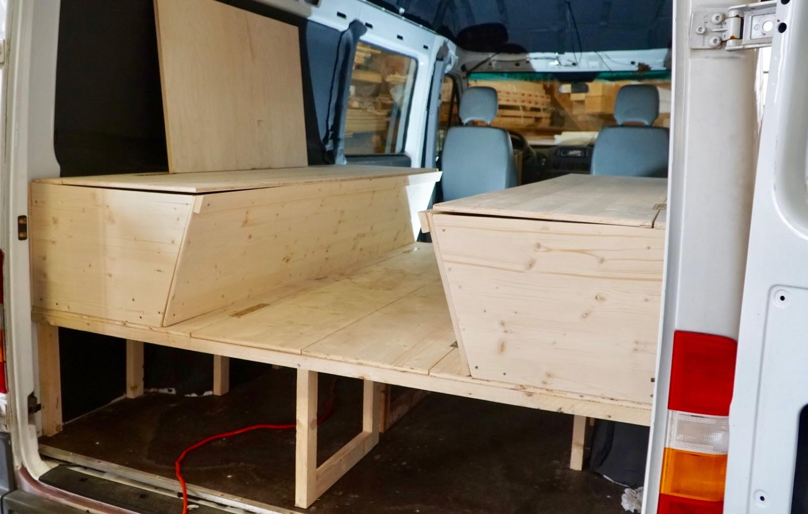 vom sprinter zum wohnmobil bettbau und sitzecke teil 6. Black Bedroom Furniture Sets. Home Design Ideas