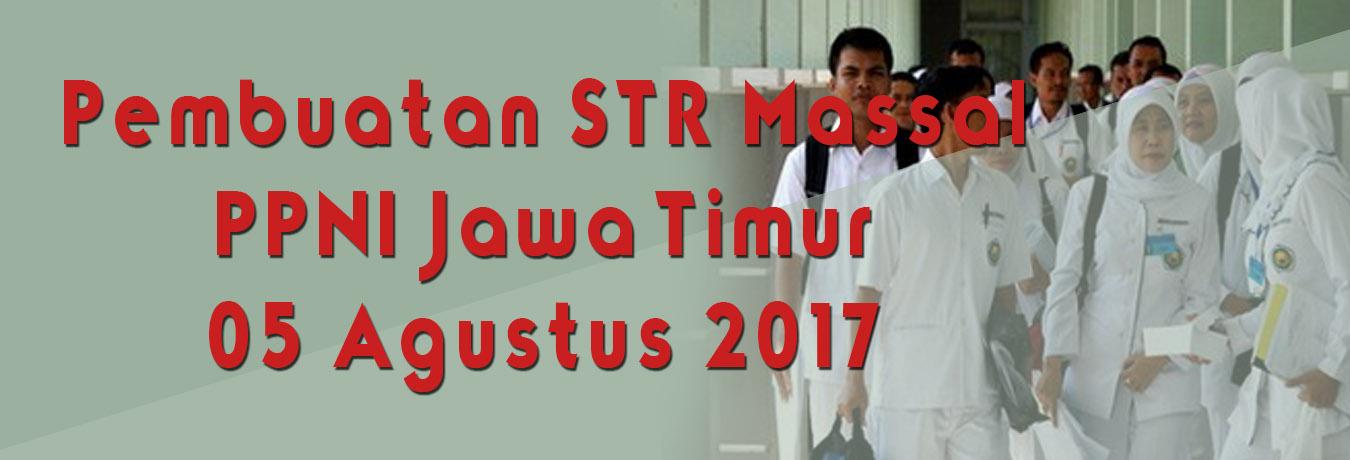 Pembuatan STR Massal PPNI Jawa Timur One Day Service Bulan Agustus 2017