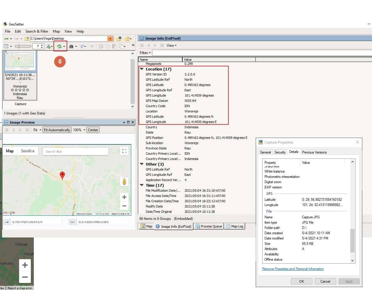 Cara menambahkan koordinat (GPS) ke metadata Foto. Edit metadata titik koordinat ke foto yang tidak ada koordinatnnya.
